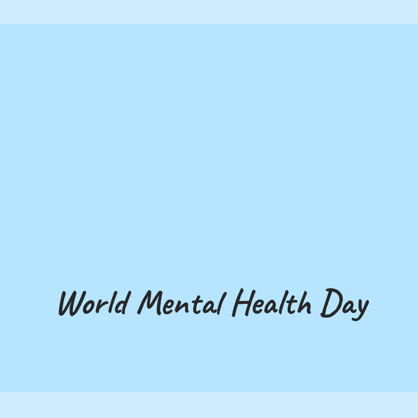 World Mental Health Day 2018 text label