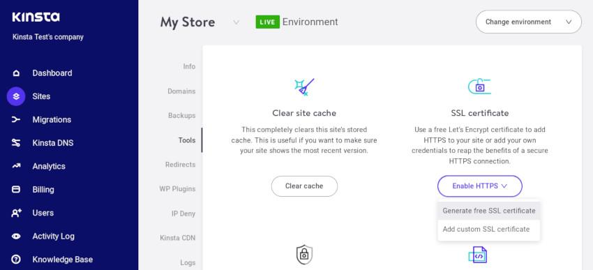Generate free SSL certificate