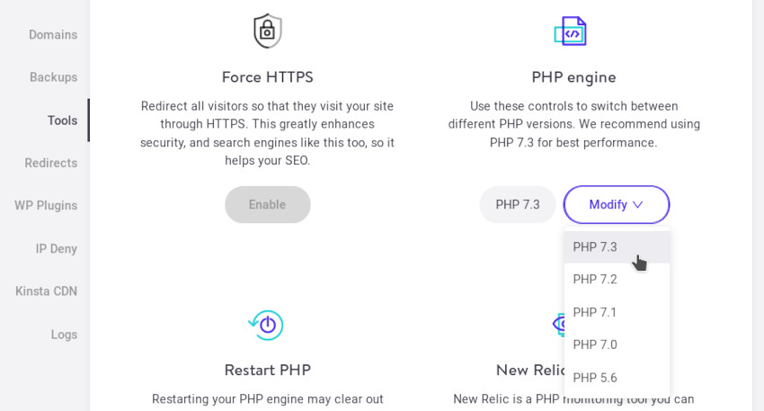 Changing PHP Versions