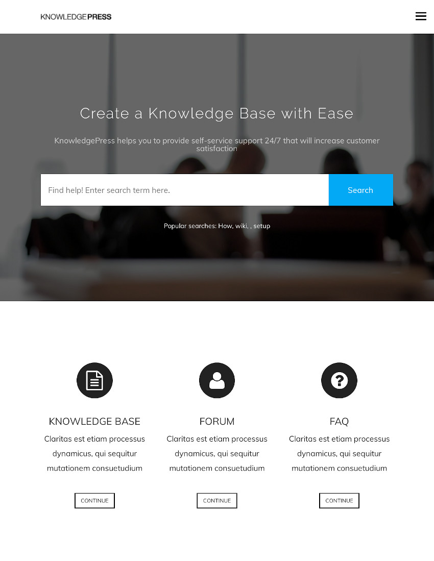 KnowledgePress - WordPress Wiki Theme Help Desk  FAQ
