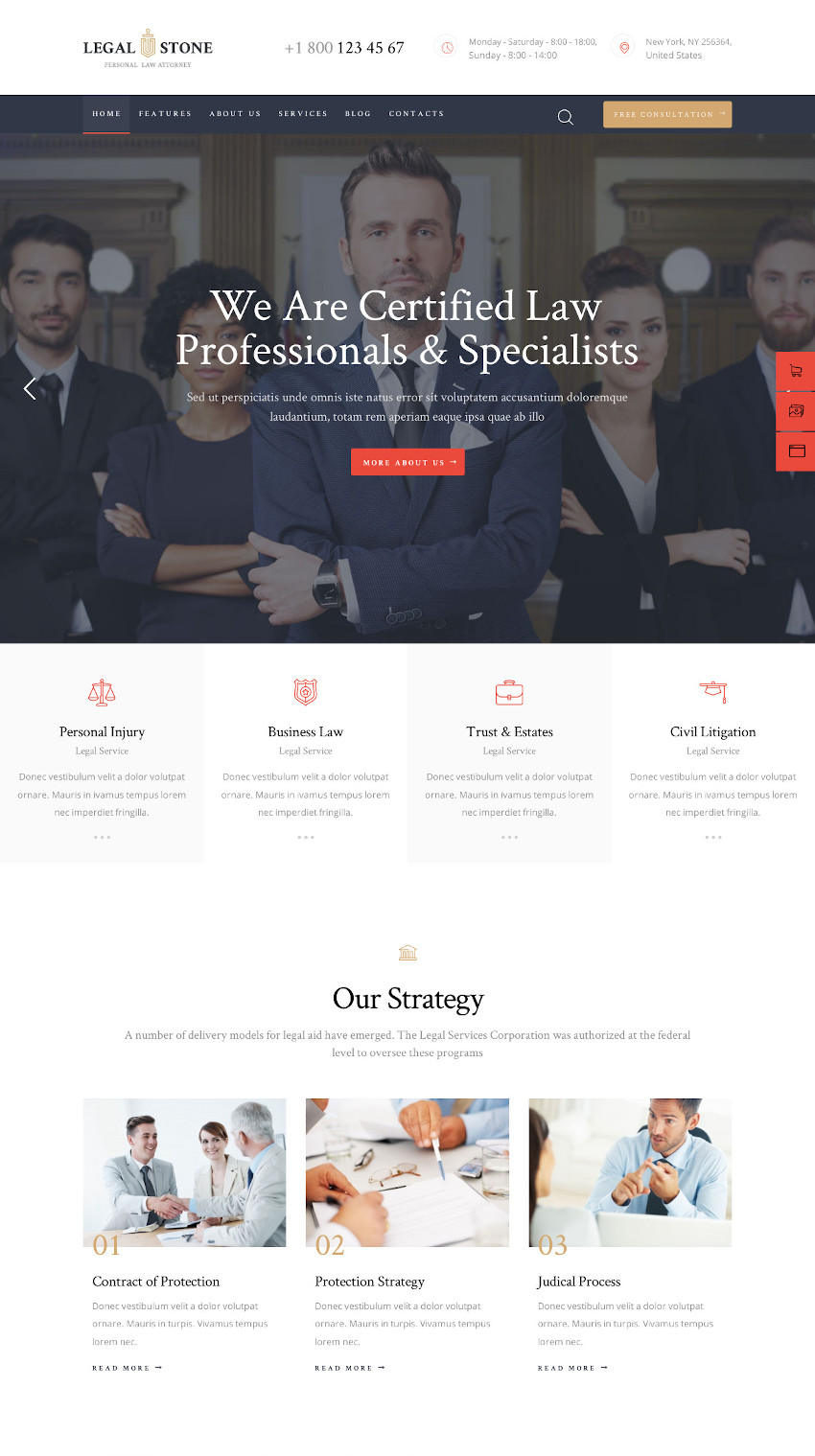 Legal Stone - Lawyer WordPress Theme