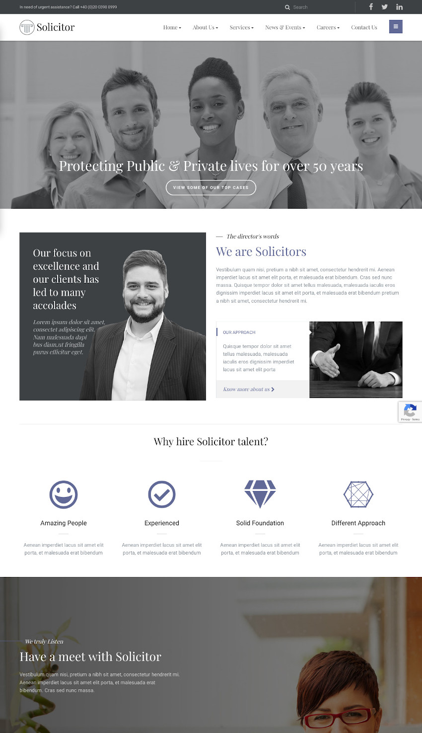 Solicitor - Law Business Responsive WordPress Theme
