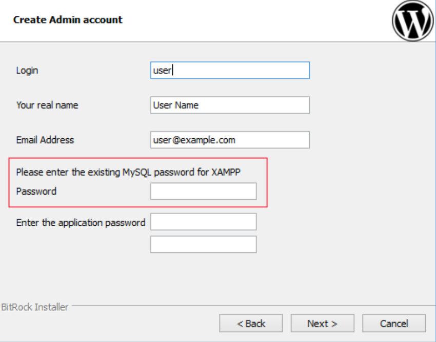 there'll be no MySQL password