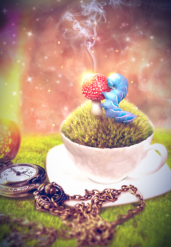 Create an Alice in Wonderland Themed iPhone Wallpaper in Pixelmator