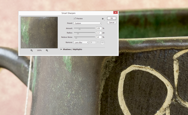 Sharpening the photogrpah in Adobe Photoshop