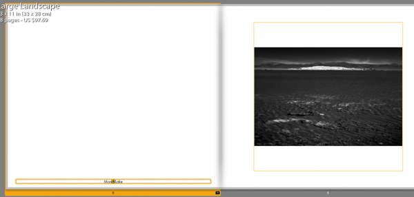 Lightroom book module adding page text
