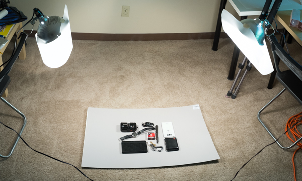 A simple two light setup for your everyday essentals photo