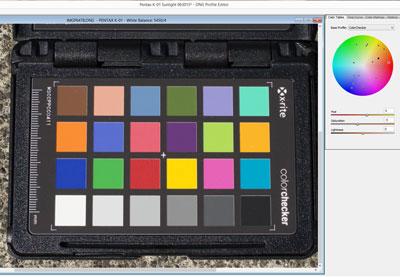Create camera profile preview
