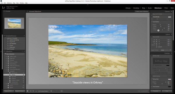 Adobe Lightrooms Slideshow module