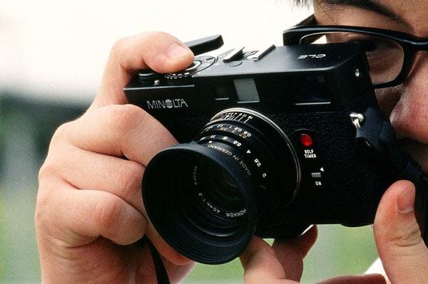 Minolta CLE rangefinder film camera