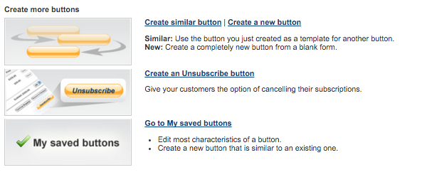 Create more buttons page