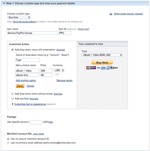 PayPal Integration Part 1: PayPal Payment Buttons
