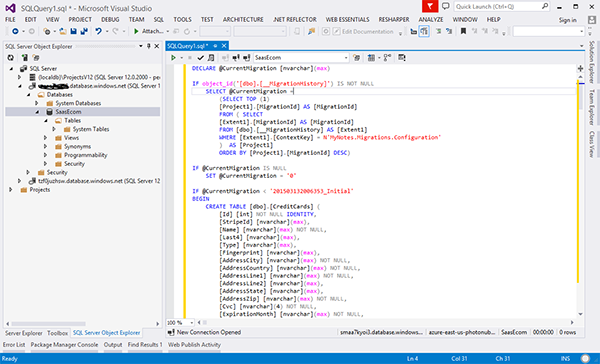 Creating the SQL Script
