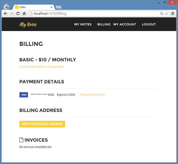 Updated Billing Template