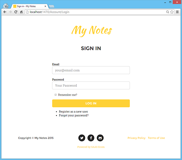 Updated Login Page