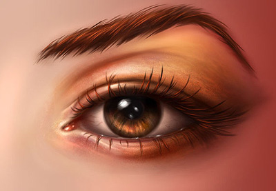 Paint realistic eye preview