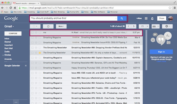 how to look for archived emails in gmail