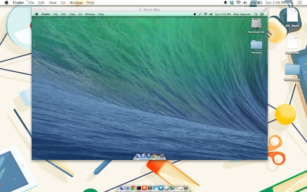 Screen sharing using Back to My Mac