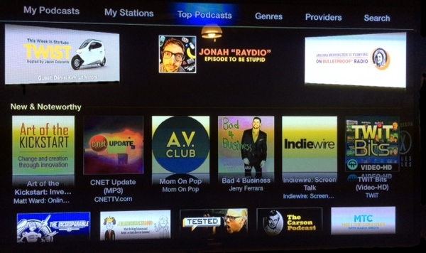 Podcast Channel on Apple TV