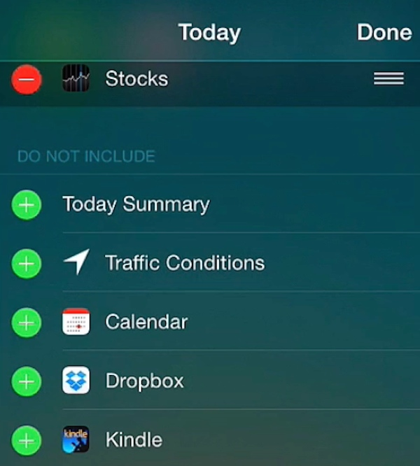 Adding a custom widget to the Notification Center