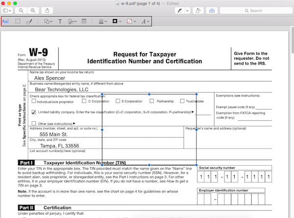 Adding rectangles to forms