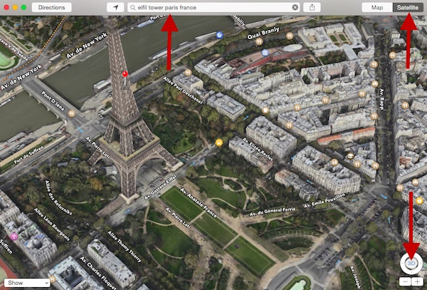 Using 3D Maps to tour Paris France