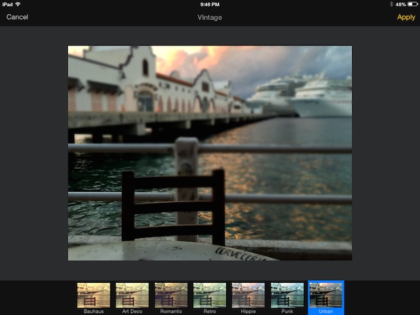 Adding color effects in Pixelmator for iPad