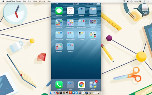 Mirroring the iPhone to Mac using QuickTime
