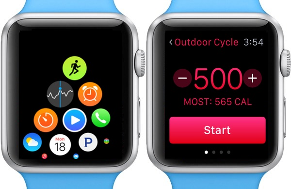 Setting a workout goal on the Apple Watch