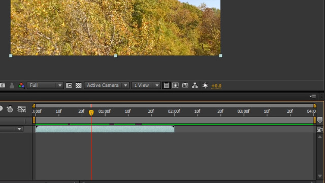 Timeline and composition in Adobe After Effects