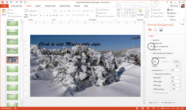 To use and edit powerpoint master slides adding a photo background in powerpoint toneelgroepblik