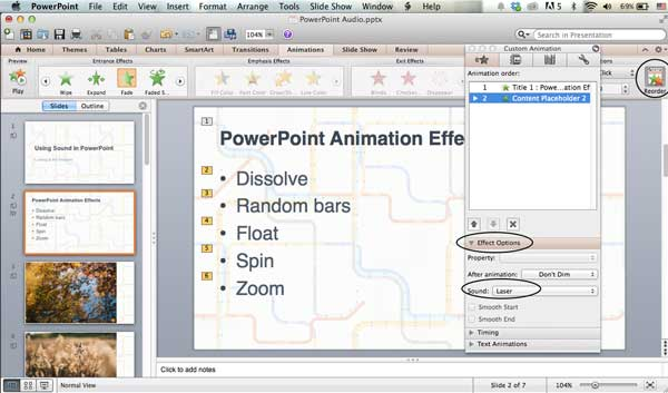 How to add audio to powerpoint presentations applying audio to an animated object on the mac toneelgroepblik