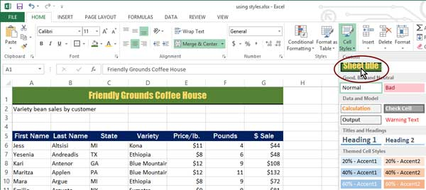 How to Format Your Spreadsheets in Excel with Styles