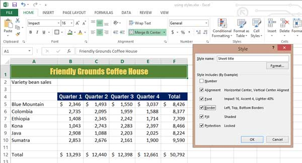 1.3 Formatting and Data Analysis – Beginning Excel
