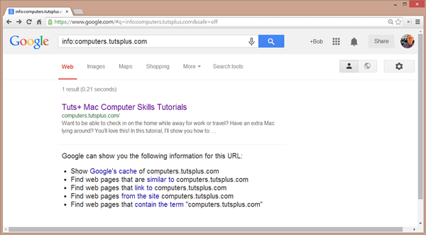result of Info keyword