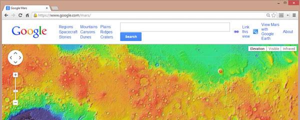 interactive map of mars