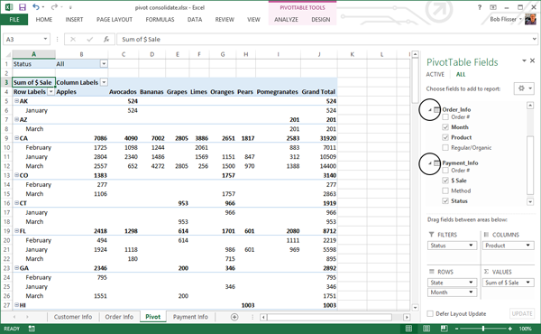 Advanced PivotTables Combining Data from Multiple Sheets – Pivot Table Multiple Worksheets