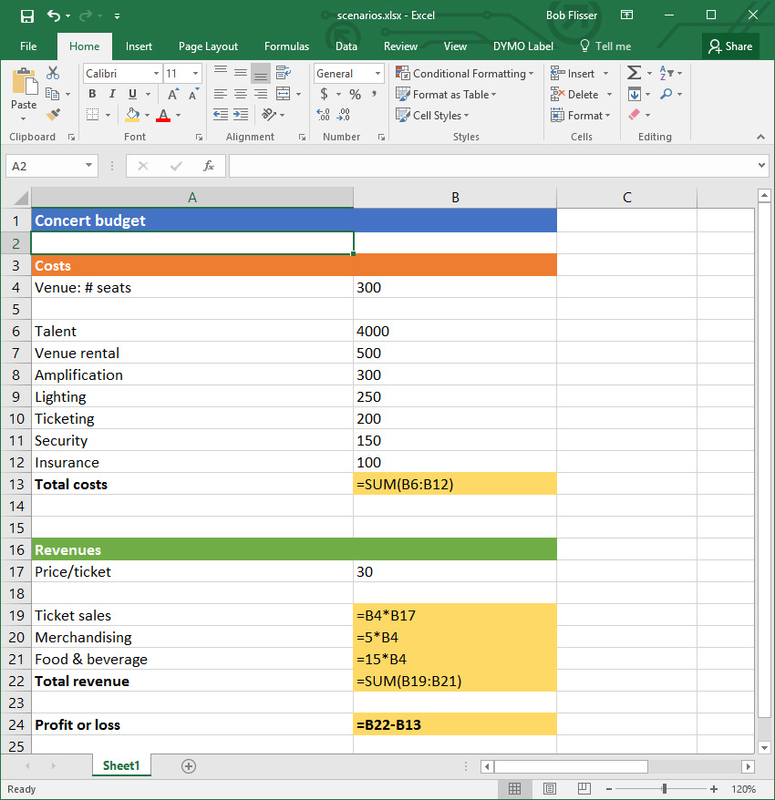 Display formulas using Excel Keyboard Shortcut