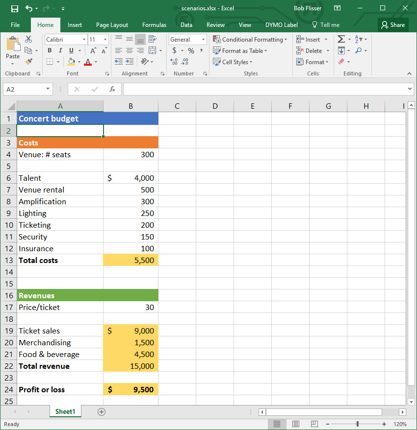 Excel what if analysis how to use the scenario manager excel scenerio manager practice worksheet fandeluxe Choice Image