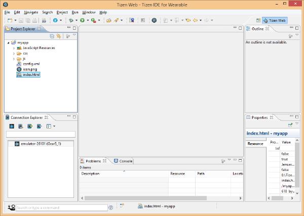 myapp Project Folder View