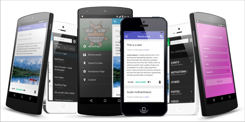 ionWordpress -Wordpress Full Integrated Mobile App