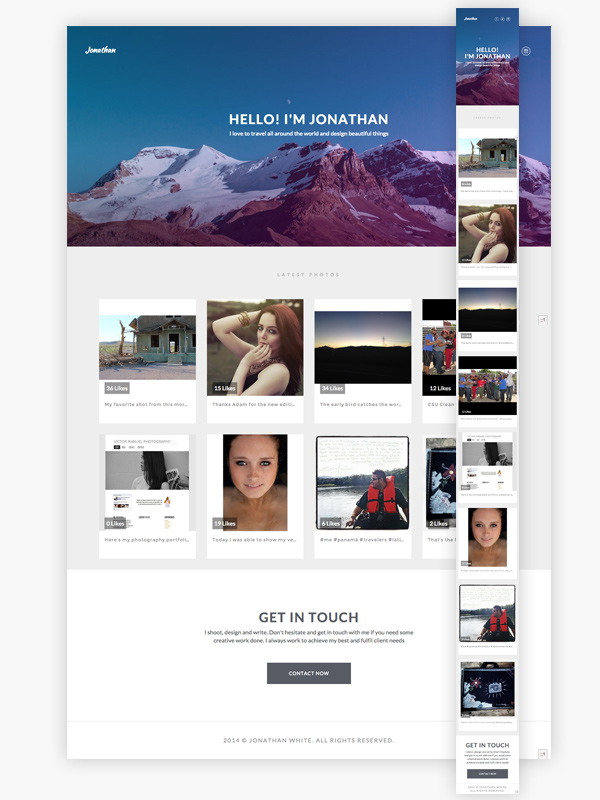Building an Instagram Based Portfolio With Bootstrap