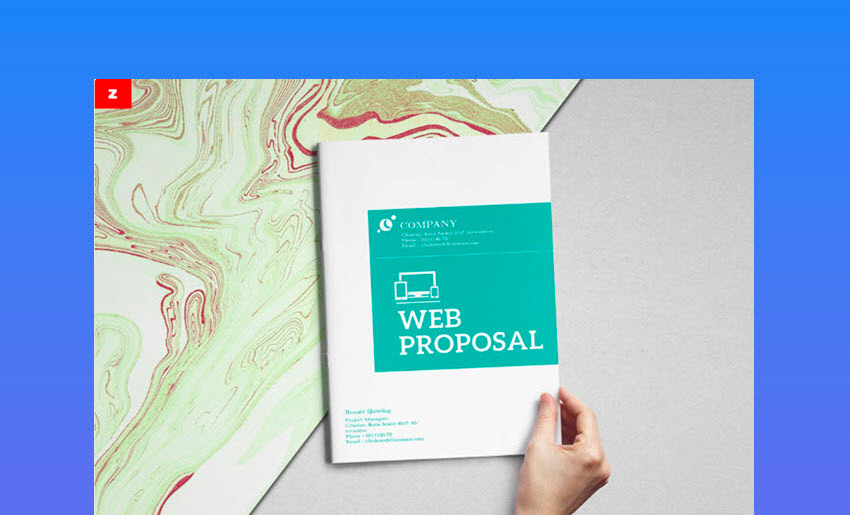 Clean Web Proposal Template - Sleek Modern Design