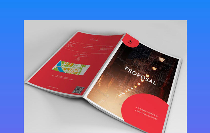 Colorful Business Project Proposal Template Design