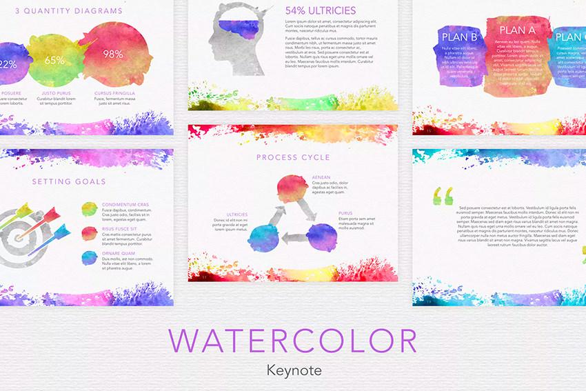 Watercolor Keynote Template