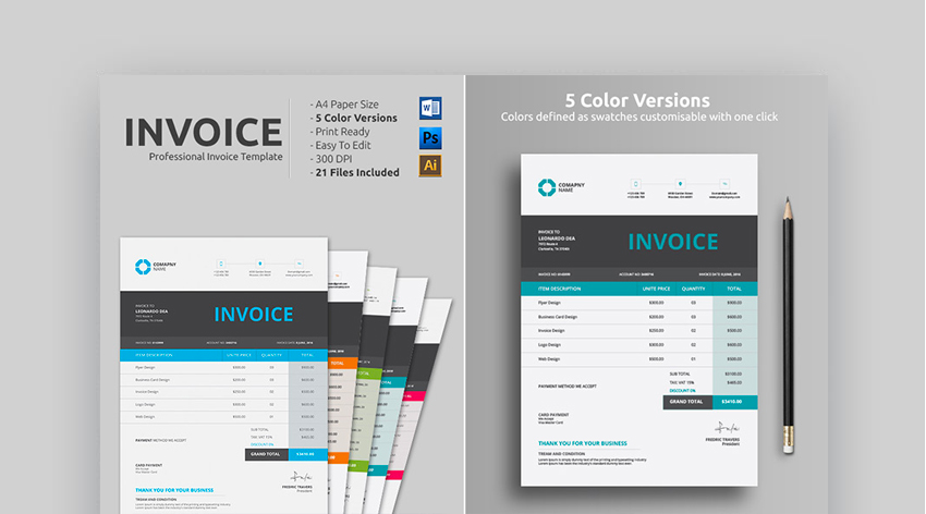 20+ Simple Invoice Design Templates: Made For Microsoft Word