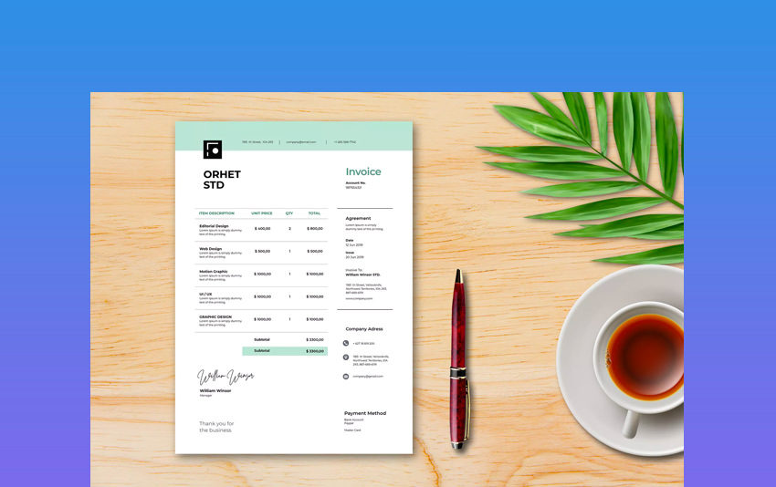 Professional MS Word Invoice Template