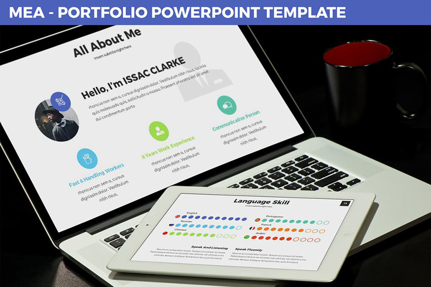 Mea - Portfolio PowerPoint Template