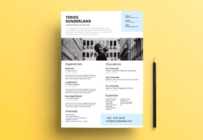 How to make a creative resume in photoshop quickly with psd templates