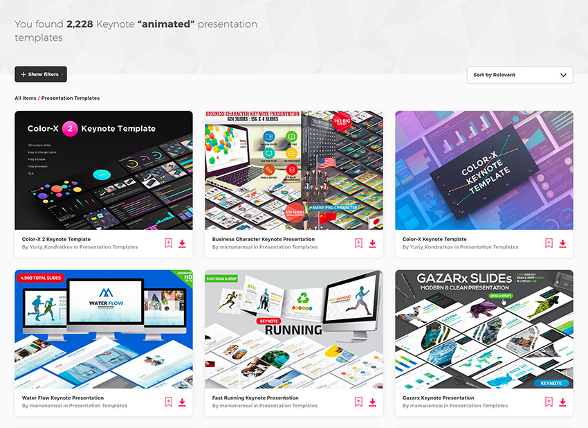 Animated Keynote Templates on Envato Elements